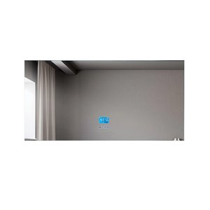 Miroir de salle de bain Phoenix à éclairage DEL de GEF avec fonctions bluetooth, anti-buée, 60 po, rectangulaire, argent