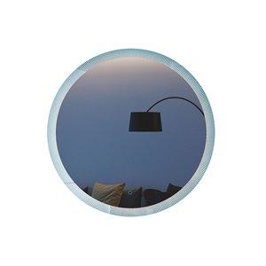 Miroir de salle de bain Phoenix à éclairage DEL de GEF, 28 po, rond, argent
