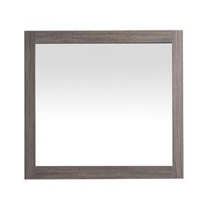 Miroir de salle de bain Selena de GEF, 30 po, rectangulaire, gris érable