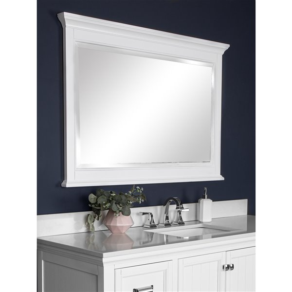 Foremost Brantley Mirror for Bathroom  in White - 46-in