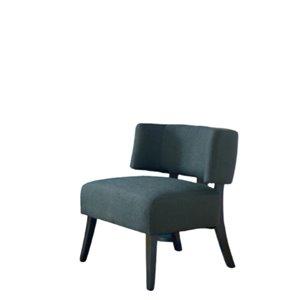 Chaise d'accent moderne en polyester gris de IH Casa Decor, lot de 1