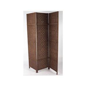 Écran pliable Kenya en bambou de IH Casa Decor, 39po l x 74po H, brun