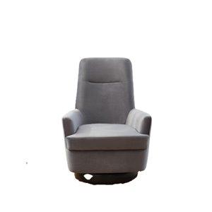 Chaise d'accent moderne grise en velours de IH Casa Decor, lot de 1