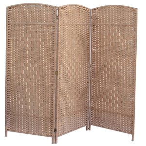 Écran pliable en bambou de IH Casa Decor, 39po l x 74po H, brun