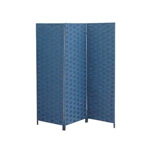Écran pliable en bambou de IH Casa Decor, 39po l x 74po H, bleu