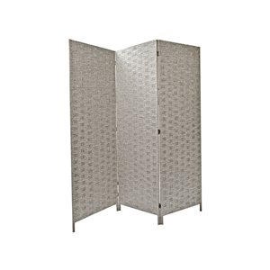 IH Casa Decor 39-in W x 74-in H Grey Bamboo Gibson Room Divider