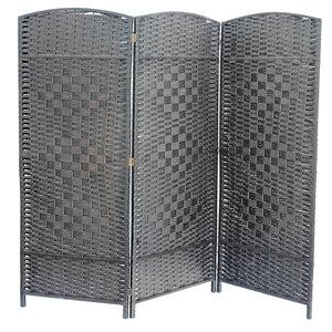 Écran pliable en bambou de IH Casa Decor, 39po l x 74po H, gris
