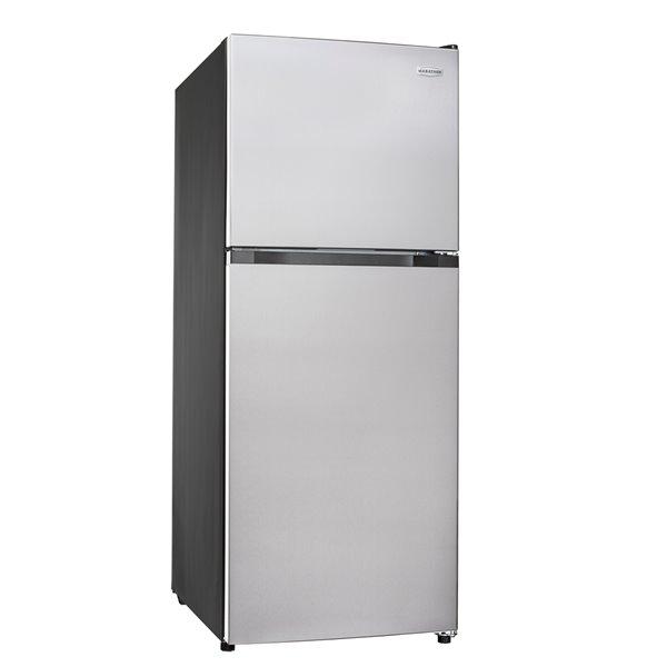 Réfrigérateur avec congélateur en haut en acier inoxydable sans givre et résistant aux empreintes Marathon, 12,1 pi³