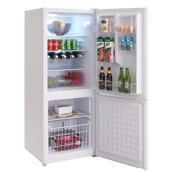 Marathon Fingerprint-Resistant Bottom Mount Frost Free Refrigerator - 9.2-cu ft - White