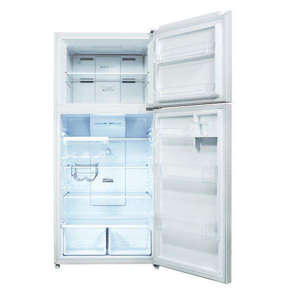 Réfrigérateur avec congélateur en haut sans givre et résistant aux empreintes Marathon, 18,3 pi³, blanc