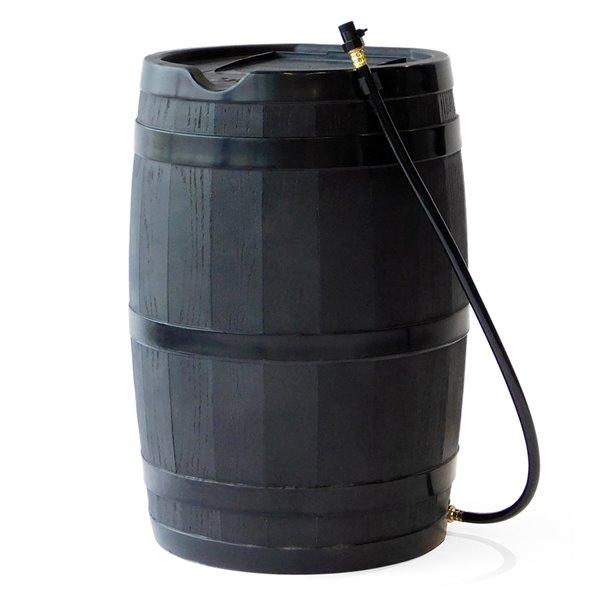 Citerne pluviale noir en plastique de 45gal. par FCMP Outdoor, robinets inclus
