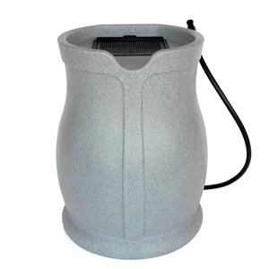 FCMP Outdoor 45-Gal Plastic Rain Barrel with Spigot Included - Grey