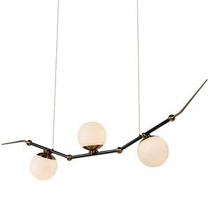 Lustre à DEL intégrée Chianti de Vonn Lighting fini laiton antique, 3 lumières, 54 po