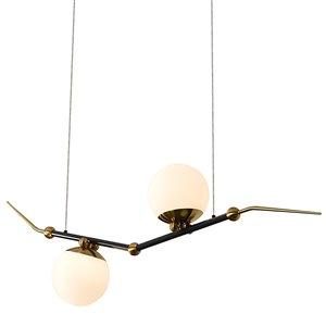 Lustre à DEL intégré Chianti de Vonn Lighting au fini laiton antique à 2 lumières, 43 po