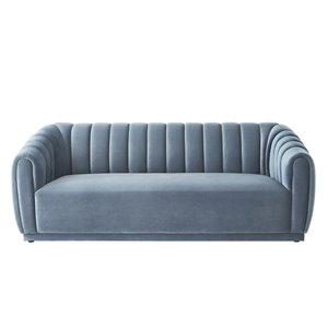 Inspired Home Bellamy Modern Teal Velvet Sofa