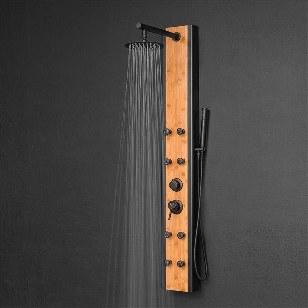 AKDY Bamboo 8-Spray Shower Panel System