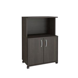 Nexera Composite 2-Door Mobile Microwave Cart - 23.75-in x 15.88-in x 36-in - Grey