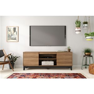 Nexera Rhapsody TV Stand for TVs up to 80-in - Nutmeg and Black