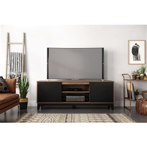 Nexera Arrow TV Stand for TVs up to 80-in - Nutmeg and Black