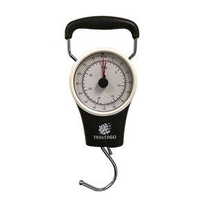 Pèse-bagage analogique de GoGreen Power, jusqu'à 80 lb, noir