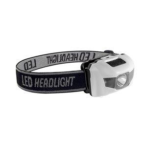 Lampe de tête LED 120 Lumen de GoGreen Power, piles incluses, blanc