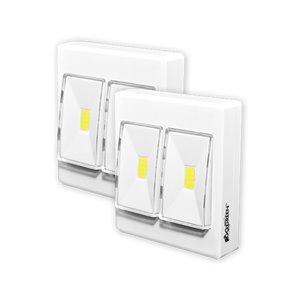 Lampe portative LiteSaver 2X LED200 Lumen de GoGreen Power, pile incluse