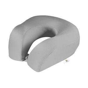 Oreiller cervical rond en spandex et mousse mémoire de GoGreen Power, 12po W x12po L, gris