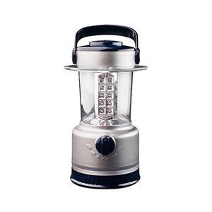 Lanterne de camping LED à piles de GoGreen Power, 120-Lumen, gris
