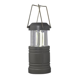 Lanterne de camping LED à piles de GoGreen Power, 200-Lumen, gris