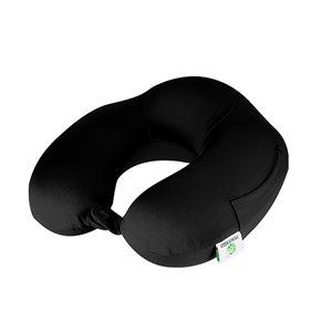 Oreiller cervical rond en spandex en mousse mémoire de GoGreen Power, 12po W x12po L, noir