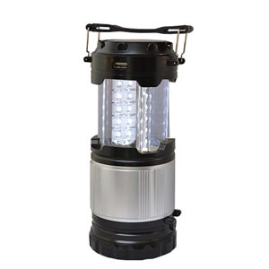 GoGreen Power 300 LED-Lumen Solar-Powered Rechargeable Black Camping Lantern (Battery Included)