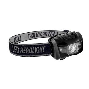 Lampe de tête LED 120 Lumen de GoGreen Power, piles incluses, noir