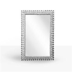 Miroir rectangulaire avec cadre Bling de Hudson Home, 36po x 24po, clair