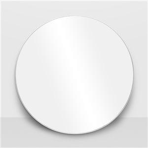 Miroir rond avec cadre Emerson de Hudson Home, 31,5po x 31,5po, chrome