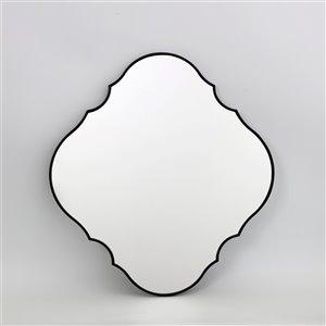 Miroir ovale avec cadre Parisian de Hudson Home, 32po x 30po, noir