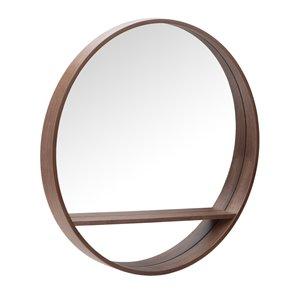Miroir rond avec cadre Jacob de Hudson Home, 32po x 32po, poire