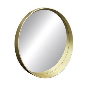 Miroir rond avec cadre Murray de Hudson Home, 27,5po x 27,5po, or