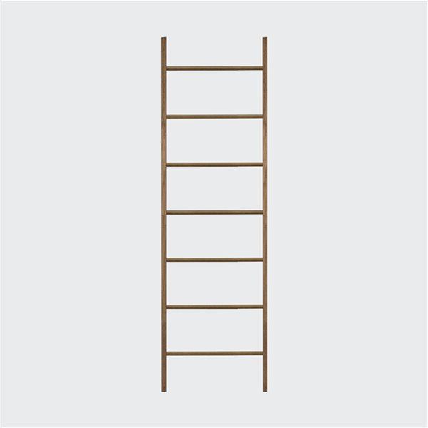 Hudson Home Freestanding Pine Scala Quilt Rack - 20-in x72-in - Walnut Finish