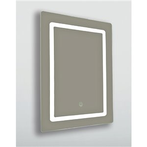 Miroir rectangulaire aux contours polis Lumi de Hudson Home, 36po x 24po, clair
