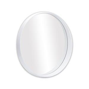 Miroir rond avec cadre Murray de Hudson Home, 31,5po x 31,5po, blanc
