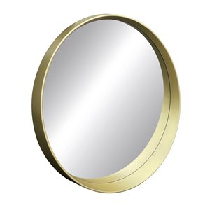 Miroir rond avec cadre Murray de Hudson Home, 31,5po x 31,5po, or