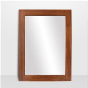 Miroir rectangulaire aux contours polis Lusso de Hudson Home, 40po x 30po, érable