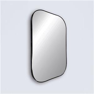 Miroir rectangulaire avec cadre Emerson de Hudson Home, 36po x 24po, noir