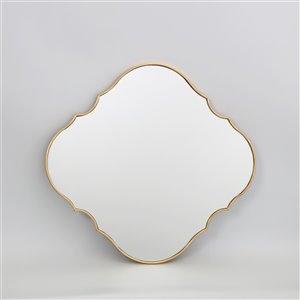 Miroir ovale avec cadre Parisian de Hudson Home, 32po x 30po, or