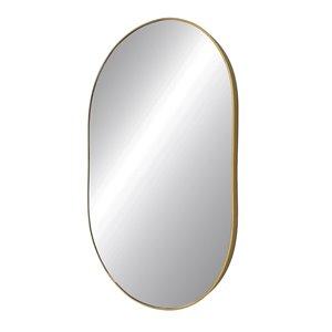 Miroir rond avec cadre Emerson de Hudson Home, 38po x 24po, or