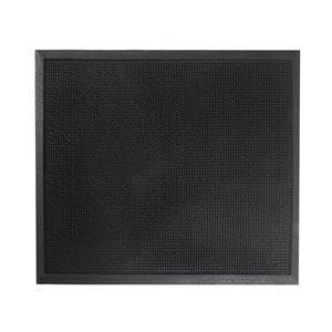 IH Casa Decor 32-in x 24-in Black Rectangular Indoor Entryway Door Mat
