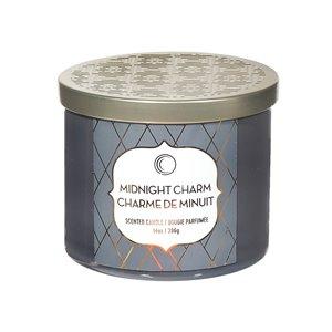 Chandelle en pot Charme de minuit de 14 oz et 3 mèches par IH Casa Decor, lot de 2