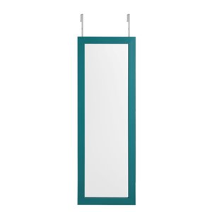 Inspired Home Amelia Over-the-Door/Wall Mount Jewelry Furniture - Turquoise
