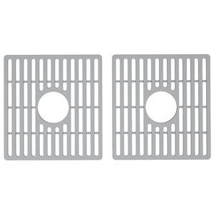 Grille double de fond d'évier de cuisine en silicone de Vigo, 13,75 po x 14,75 po, gris