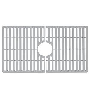 Grille de fond d'évier de cuisine en silicone de Vigo, 27 po x 15 po, gris